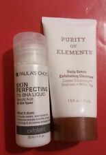 Paula's Choice Skin Perfecting Exfoliant and Purity of Elements Daily Detox NEW
