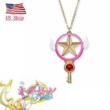 Usa Anime Card Captor Sakura Kinomoto Star Wand Key Metal Cosplay Necklace
