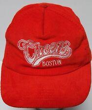 Vtg 1980s Cheers Boston Bar Tv Sitcom Show Advertising Snapback Hat Corduroy Cap