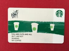 """STARBUCKS GIFT CARD """" BUSINESS CARD - GREEN STRIPE CO BRANDED"""" COLLECTABLE"""