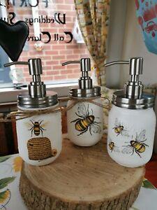 Mason jar soap hand  dispenser BEE