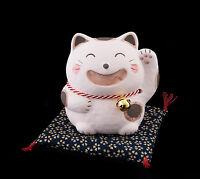 Hucha Gato Japonés 9CM Amuleto de la Suerte Maneki Neko Fabricado en Japón Rosa