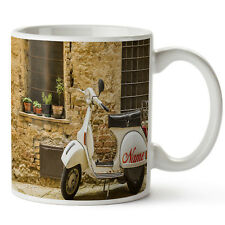 Personalised Mug VESPA SCOOTER Ceramic Cup MOD Him Her Gift Birthday SH272