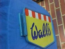 More details for rare original walls wall's ice cream double-sided metal advertising sign