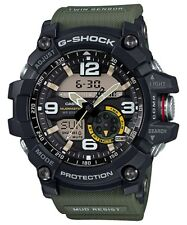 Casio G-Shock Black/Green Twin Sensor Mudmaster GG1000-1A3 GG-1000-1A3DR