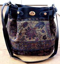 Salisbury Ladies Messenger Cross body Sequined Handbag Purse Vintage Style