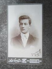 More details for antique cdv photograph on card portrait of a gentleman lewis birmingham (lot e)