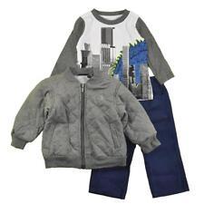Calvin Klein Infant Boys Charcoal Quilted Jacket 3pc Pant Set Size 12M $69.50