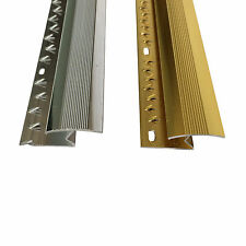 Z Edge Carpet Metal Door Bar Trim - Threshold - Brass/Silv​er Carpet to Laminate