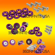24PC Fender Bumper bolt hood washer 10mm hex chrome Purple