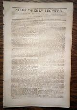 1831 NILES WEEKLY REGISTER - Cuban Slave Insurrection, 2000+ Negroes Killed