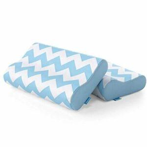 2-Pack Contour Memory Foam Pillow Set of 2 Side Sleeper Pillow for Neck