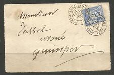 FRANCE. 1877. SMALL COVER. PONT L'ABBE LAMBOUR.
