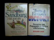 """Vintage Books: """"The Sandberg Treasury"""" & """"'Twas a Famous Victory"""" by Colby"""
