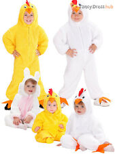Baby Toddler Fuzzy Chick Bunny Costume Childs Rabbit Chicken Easter Fancy Dress
