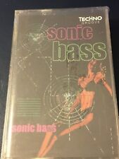 House of Bass Sonic Bass 1996 US Cassette - Techno Groove - Ongaku Music - NEW!