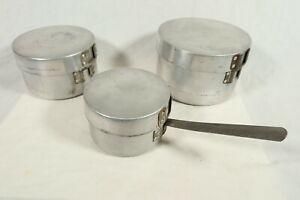 Vintage Bukta Camping Cook Set Saucepan Frying Pan 3 Sizes Made in England Early