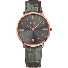 NEW HUGO BOSS HB 1513372 MENS JACKSON ROSE GOLD WATCH - 2 YEAR WARRANTY
