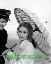 DOLORES COSTELLO 8X10 Lab Photo 1920s Sultry Parasol Grace, Silent Era Portrait