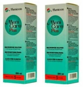 Meni Care Menicare Plus Twin Pack 2 x 250ml Menicon for hard rgp contact lenses