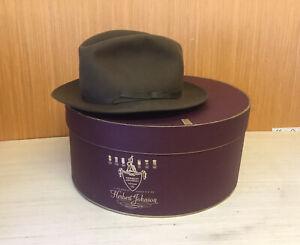 BORSALINO FELT FEDORA HAT RETAILED BY HERBERT JOHNSON WITH ORIGINAL BOX
