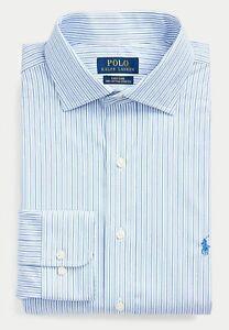 GENUINE POLO RALPH LAUREN MEN'S SIZES 19 20 21 BLUE WHITE 100% COTTON SHIRT NWT