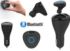 Mini Auricolare Bluetooth per auto, con base di ricarica docking 12V + porta USB