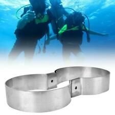 Scuba Diving Stainless Steel Double Tank Mounting Bands Retainer Connector Gear