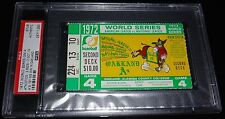 1972 WORLD SERIES GAME 4 TICKET ATHLETICS 1ST WS WIN IN OAKLAND AS A'S PSA
