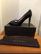 GUCCI Giedre Black Patent Heels Size UK 7/EU 40 Sold Out!!!