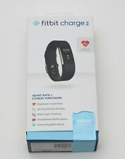 Fitbit Charge 2 Fb407Sbkl Activity Tracker, Large, Black Waterproofed by WaterFi
