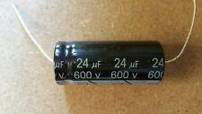 Valve Tube Radio 5 x MIEC 24uf 600-volt electrolytic capacitors. 650 v surge .