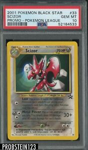 2001 Pokemon Black Star Promo Pokemon League #33 Scizor PSA 10 GEM MINT