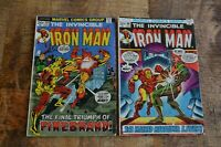 Iron Man #59 60 (Marvel Comics, 1973) VG Bronze Age Lot of 2