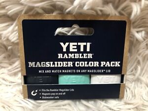 YETI MAGSLIDER Magnet 3 pack: * NAVY BLUE, SEAFOAM and WHITE! * SHIP FREE!
