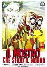 Monster That Challenged The World Poster 04 Metal Sign A4 12x8 Aluminium