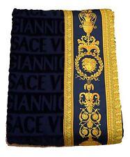 "Gianni Versace Large Towel Throw Unisex Beach 150x200 cm 60x79 "" Logo All Over"