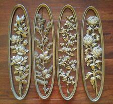 Vintage 4 Seasons Burwood Wall Decor Hanging Plaques Winter Spring Summer Fall