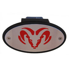 Dodge Ram Dakota Durango Journey Ram 1500 Receiver Hitch Cover Chrome and Red