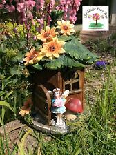 20cm solar fairy house - figurine garden light fairies