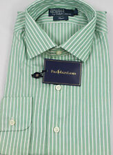Polo Ralph Lauren Dress Shirt 16.5 42 Regent Fit Green White Stripe Cotton