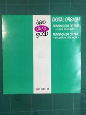 "Digital Orgasm – Running Out Of Time 7"" Vinyl GOOD9 1991"