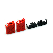1 pair 1/10 Scale RC Rock Crawler Truck Accessories Mini Fuel Tank Oil Cans Red