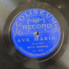 78 RPM g reichberg violoncello solista, Ave Maria/CARO MIO BEN