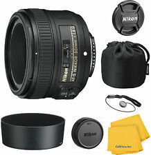 Nikon Nikkor 50 mm F/1.8 FX AS G SWM AF-S SIC M/A Lens Bundle