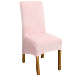 Velvet XL Size Long Back Chair Cover Spandex Dining Chair Slipcover Large Cover