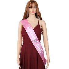 BIRTHDAY GIRL Sash in PINK Birthday Party Accessory Decor Girls Night Fashion