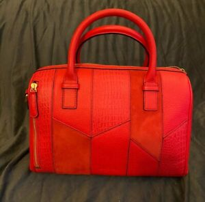 Vera Bradley ~ Patchwork Burnt Orange Marlo ~ Sycamore Leather ~ GORGEOUS