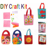 Kids DIY Handbags Non-woven Cloth Kids Crafts Cartoon Toys Creative Xmas Gifts