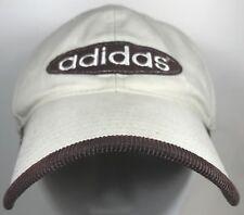 Adidas Hat Ball Cap Logo Khaki Brown Sport Corduroy Under Bill